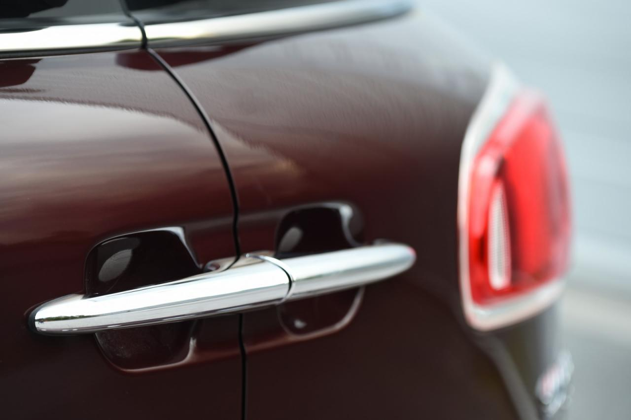 The new 2016 MINI Cooper Clubman's split rear doors