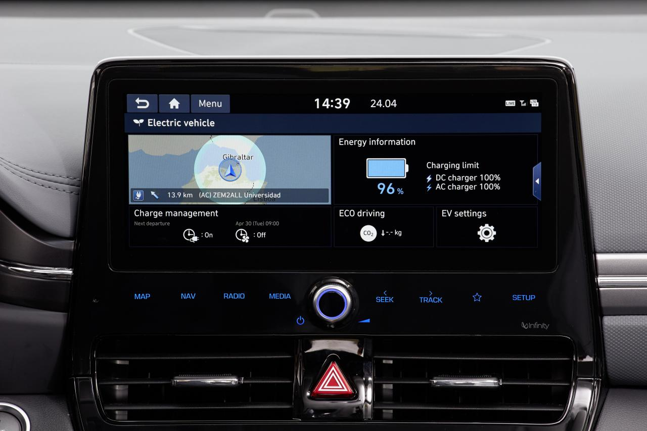 hyundai ioniq display